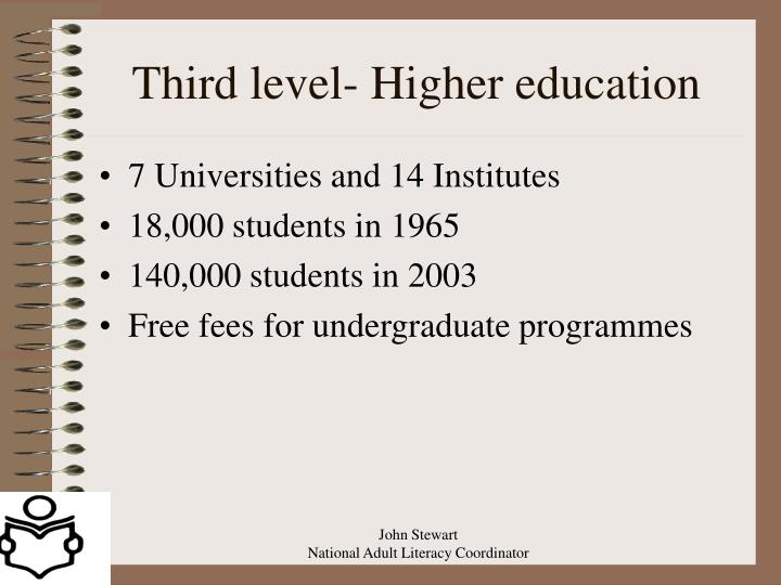 Third level- Higher education