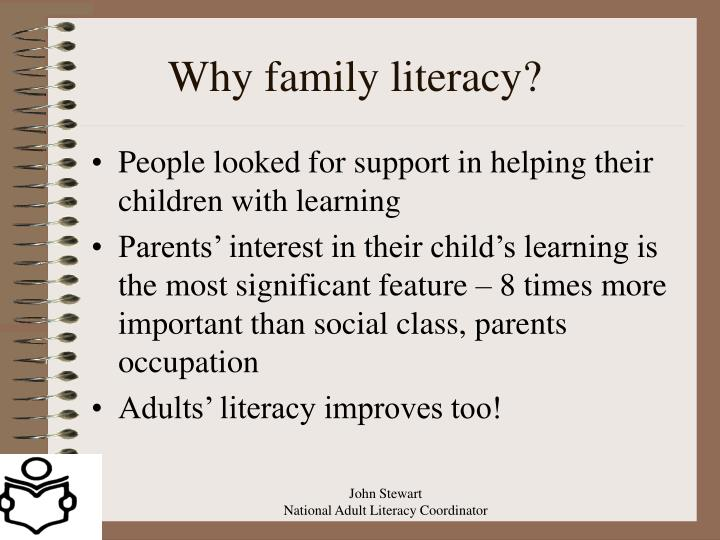 Why family literacy?