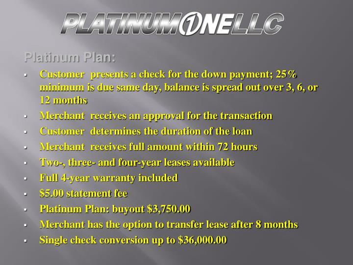 Platinum Plan: