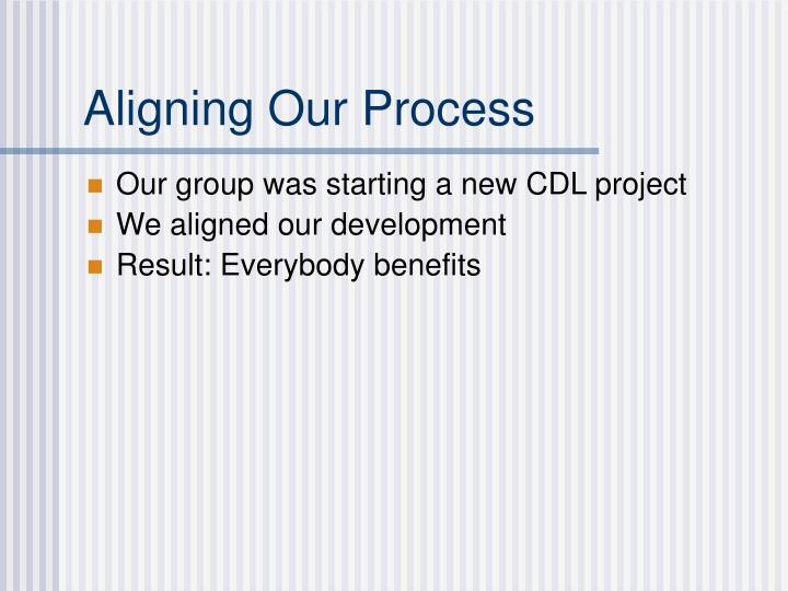 Aligning Our Process