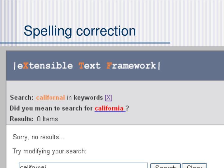 Spelling correction