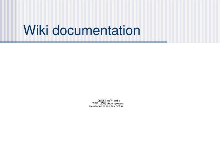 Wiki documentation