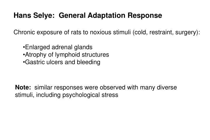 Hans Selye:  General Adaptation Response