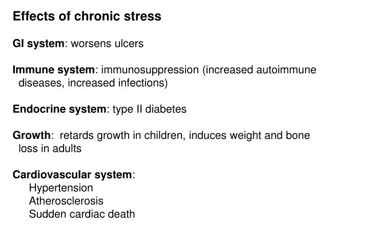 Effects of chronic stress