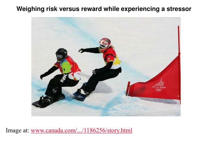 Weighing risk versus reward while experiencing a stressor