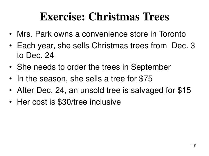 Exercise: Christmas Trees