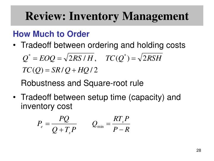 Review: Inventory Management