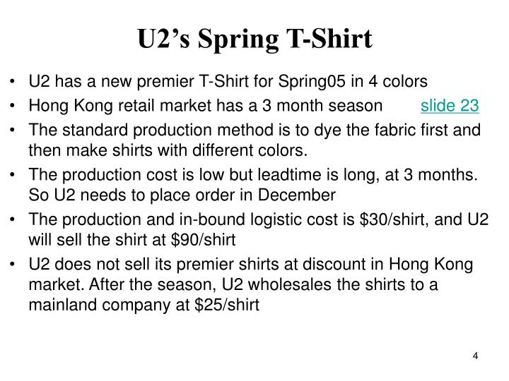 U2's Spring T-Shirt