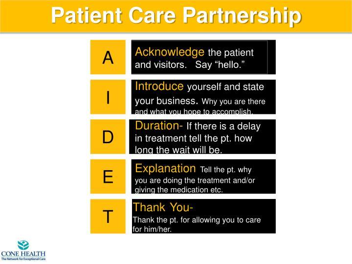 Patient Care Partnership