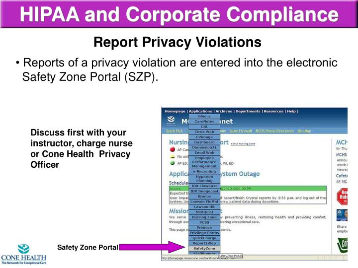 HIPAA and Corporate Compliance