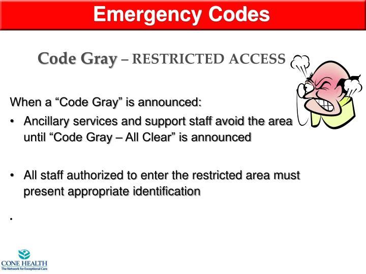 Emergency Codes