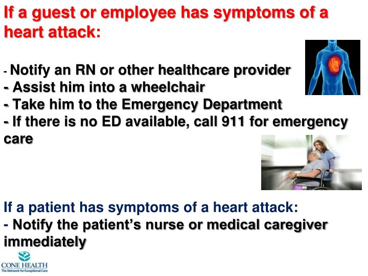 If a guest or employee has symptoms of a