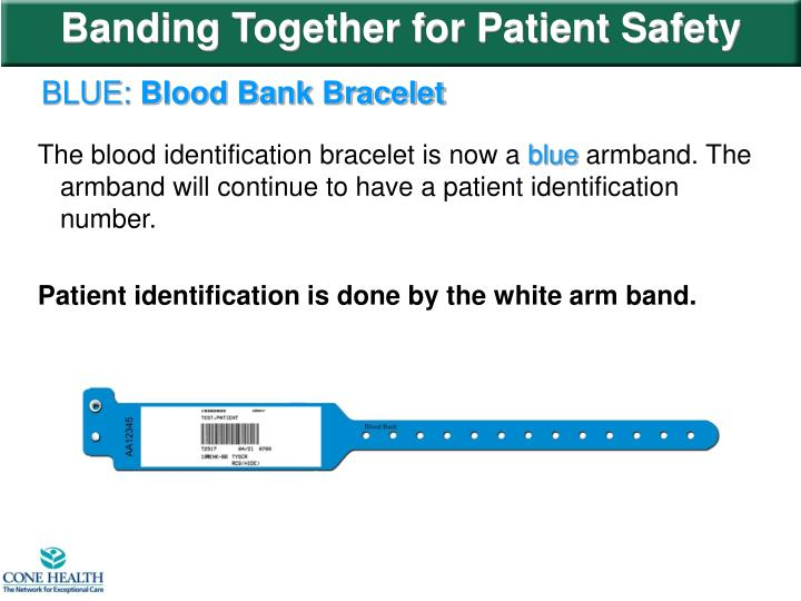Banding Together for Patient Safety