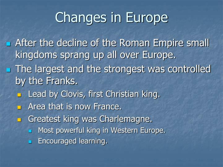 Changes in Europe