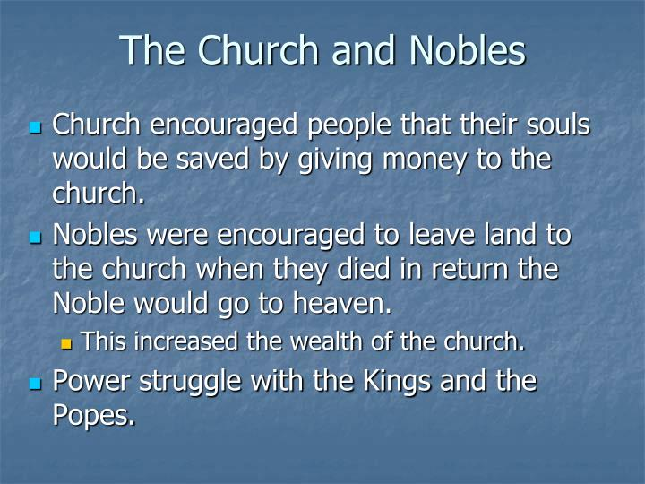 The Church and Nobles