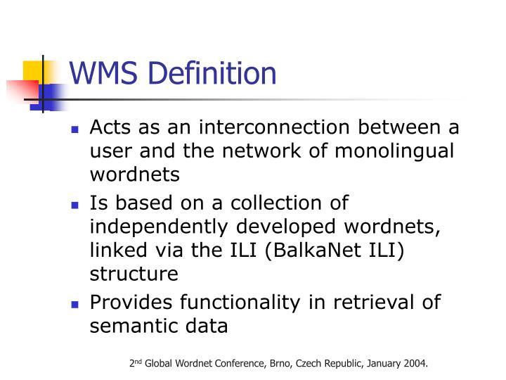 WMS Definition