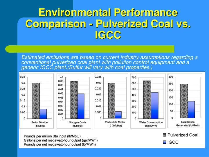 Environmental Performance Comparison - Pulverized Coal vs. IGCC