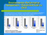 environmental performance comparison pulverized coal vs igcc