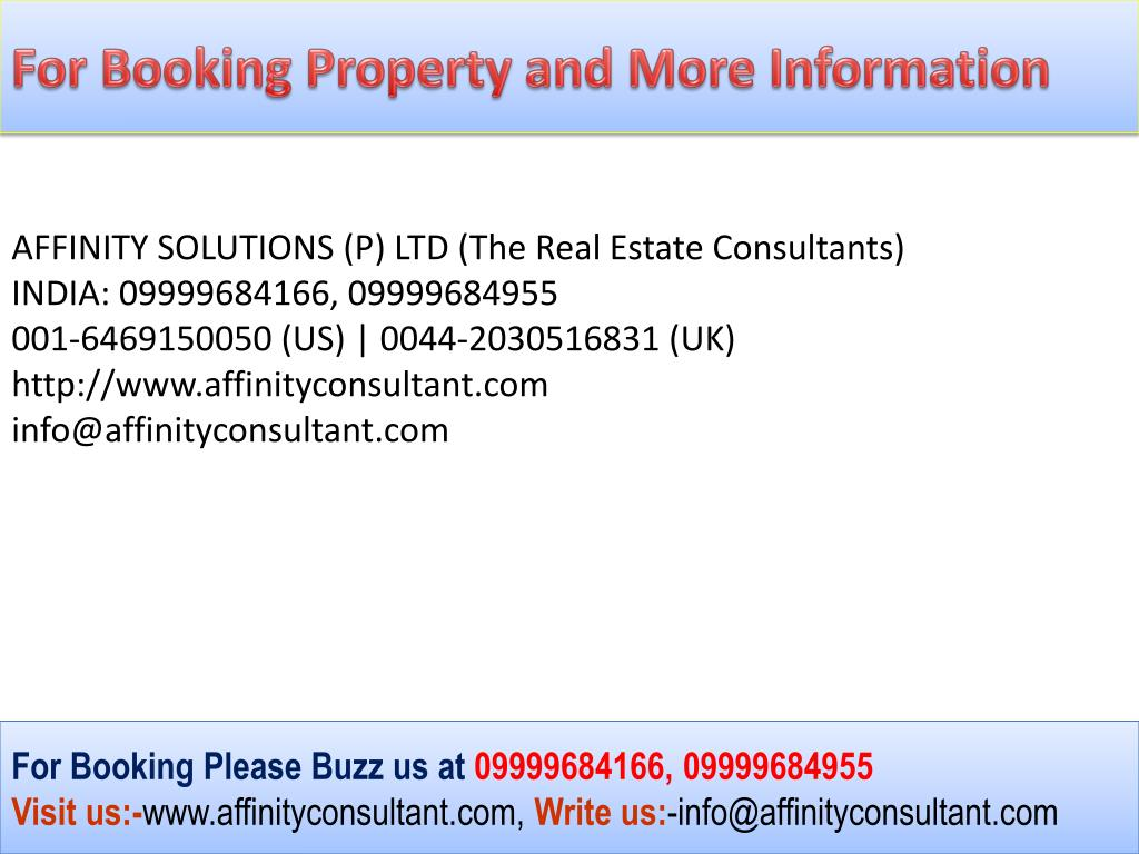 For Booking Property and More