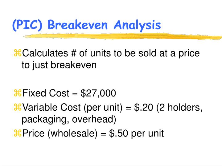 (PIC) Breakeven Analysis
