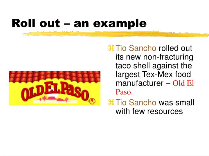 Roll out – an example