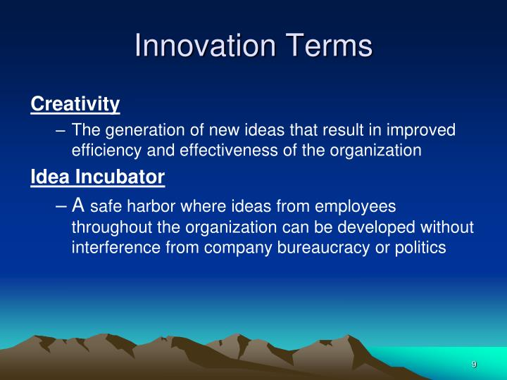 Innovation Terms