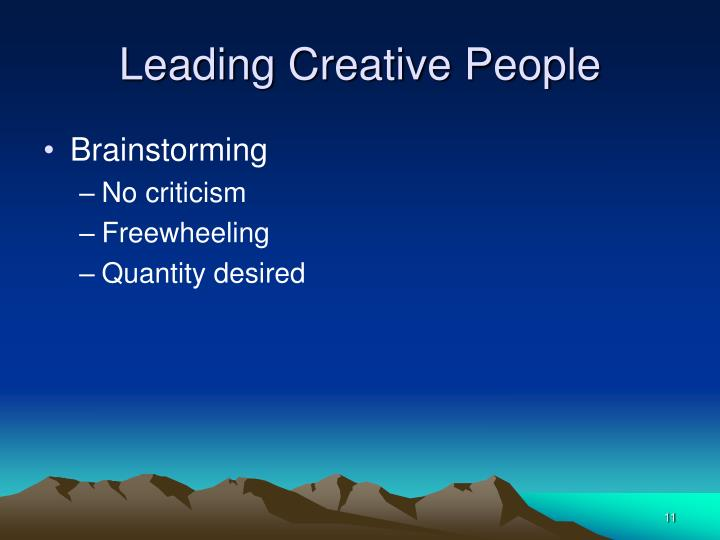 Leading Creative People