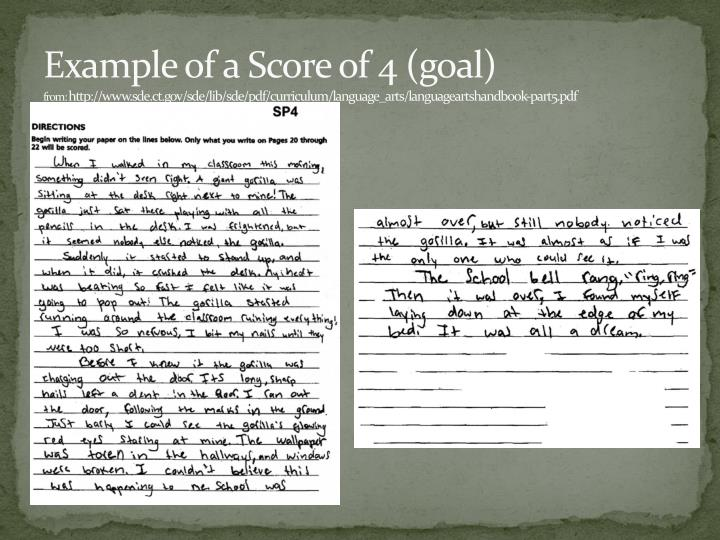 Example of a Score of 4 (goal)