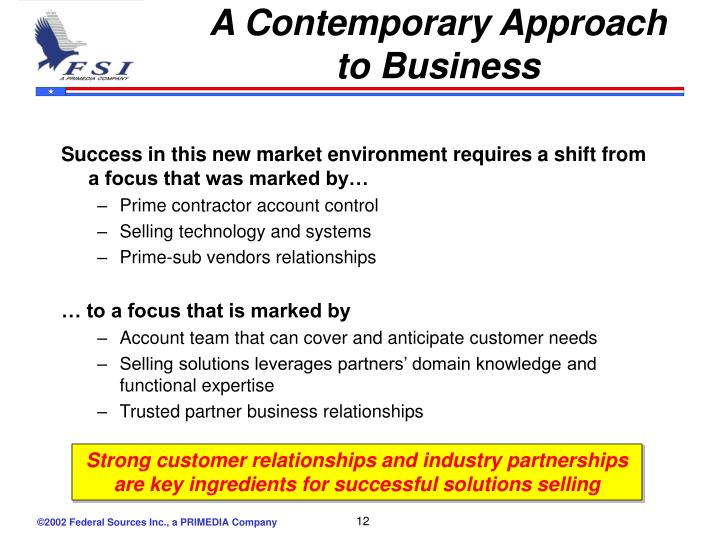 A Contemporary Approach to Business