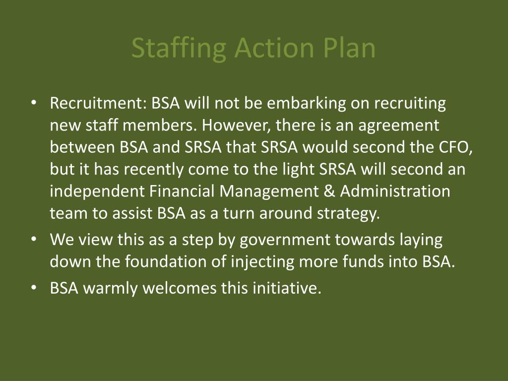 Staffing Action Plan