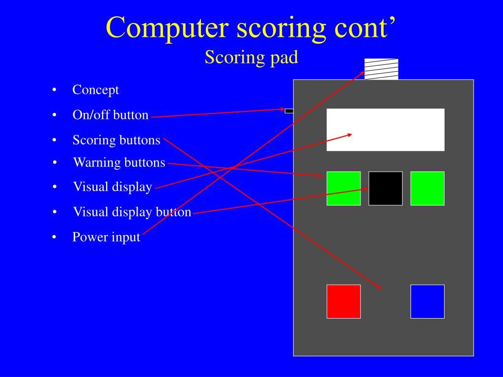 Computer scoring cont'