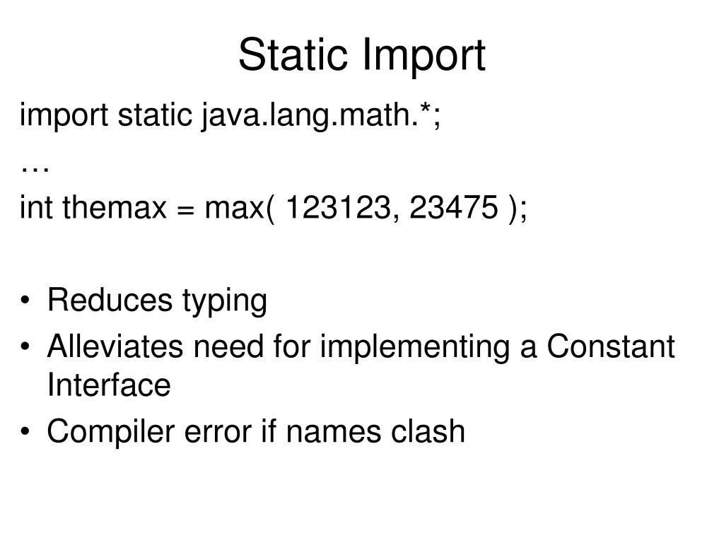 Static Import