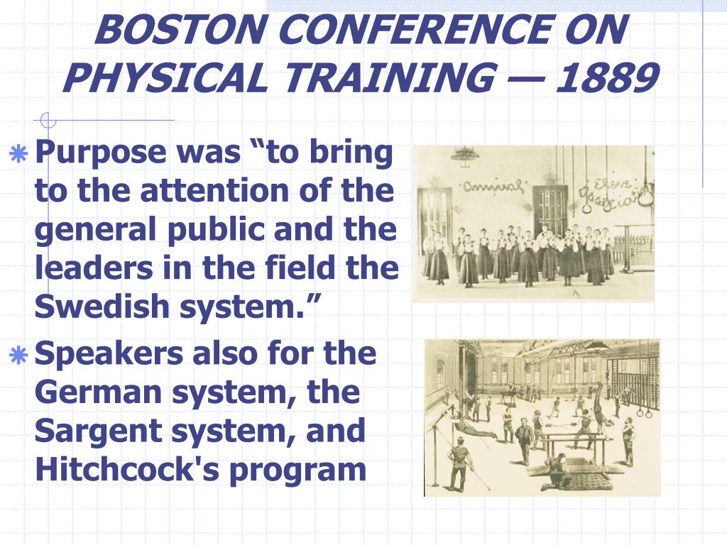 BOSTON CONFERENCE ON PHYSICAL TRAINING — 1889