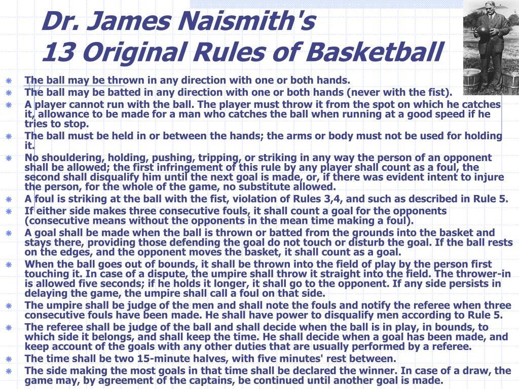 Dr. James Naismith's