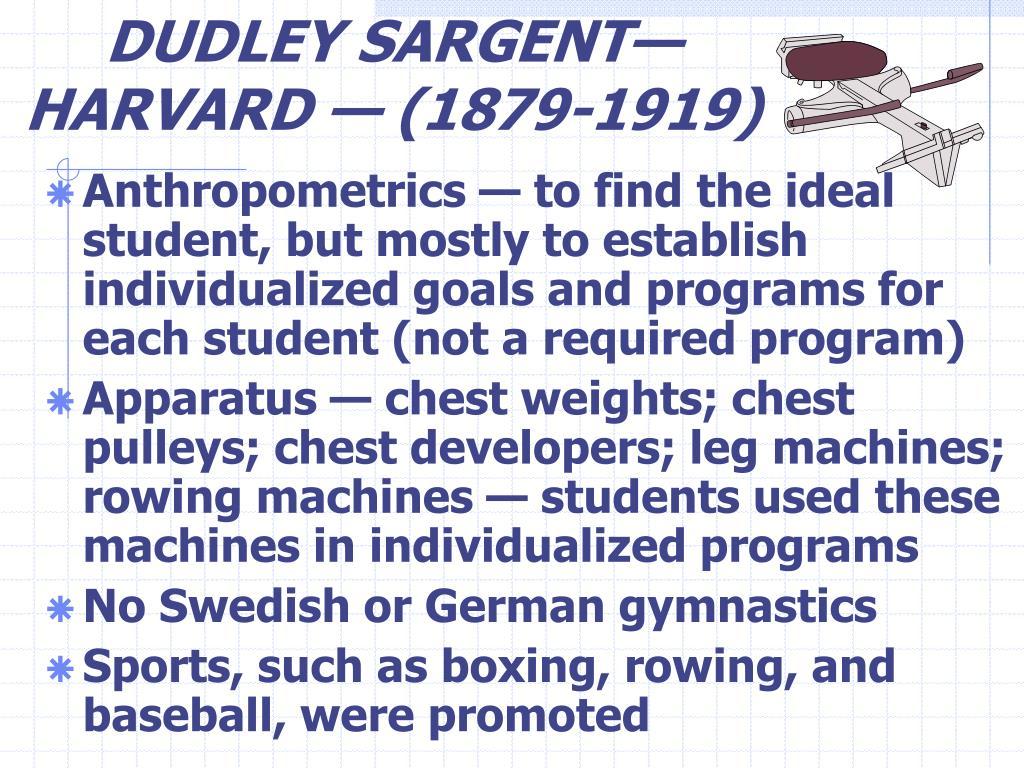 DUDLEY SARGENT—