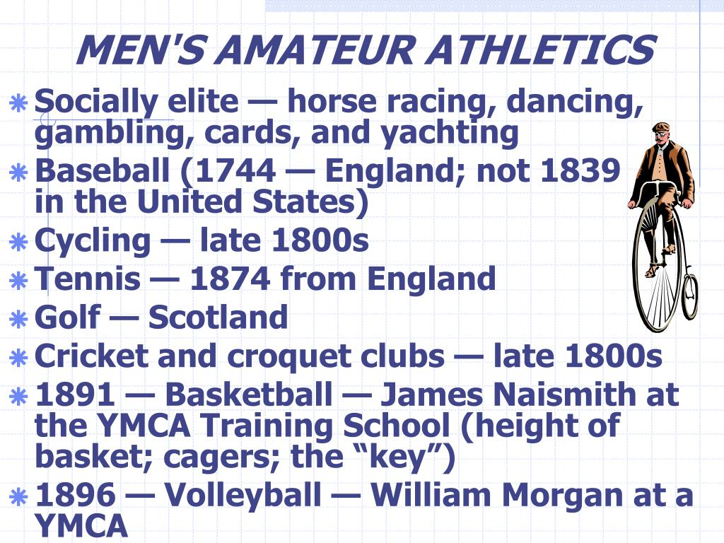 MEN'S AMATEUR ATHLETICS