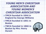 young men s christian association and young women s christian association