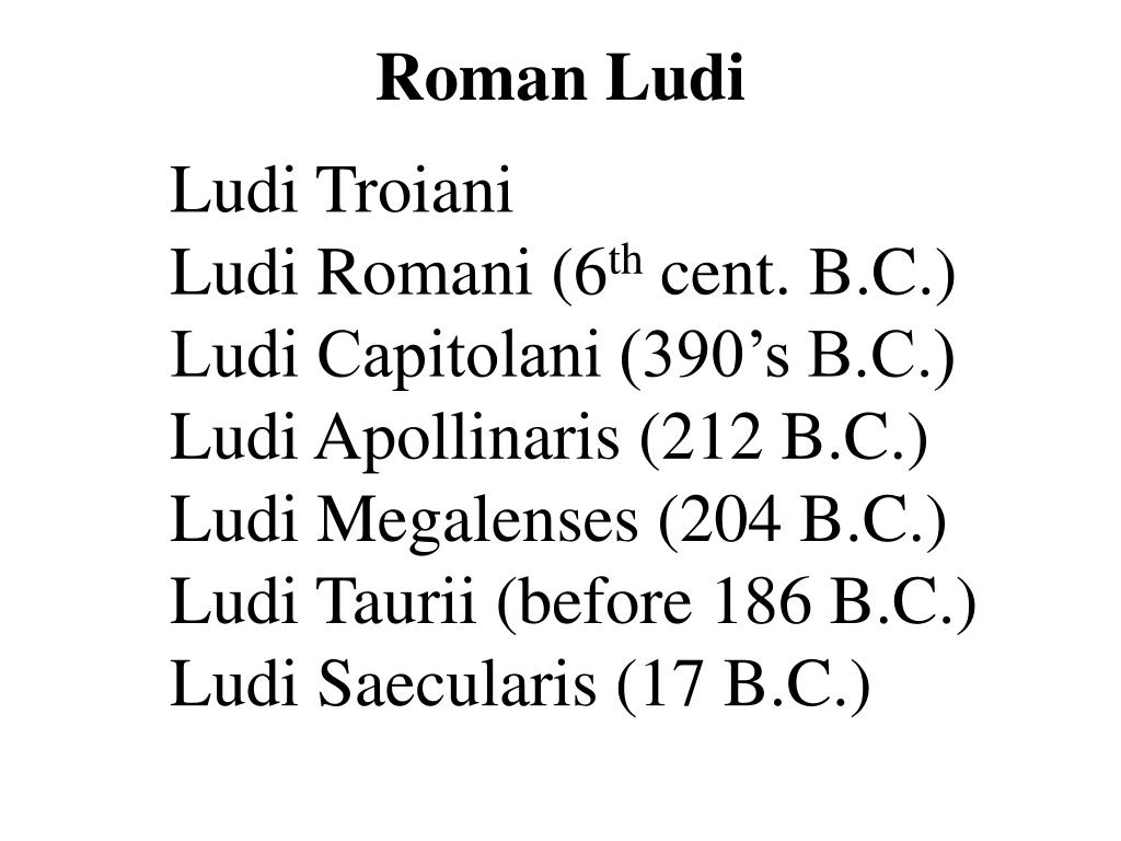 Roman Ludi