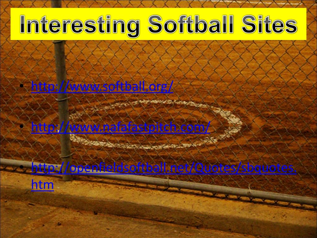 Interesting Softball Sites