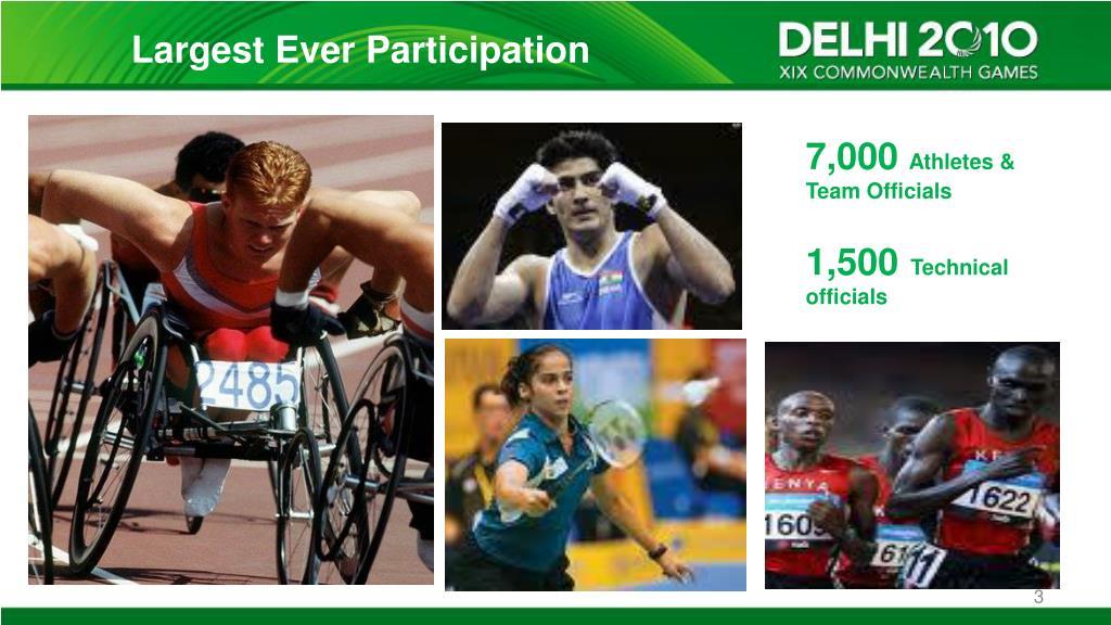 Largest Ever Participation