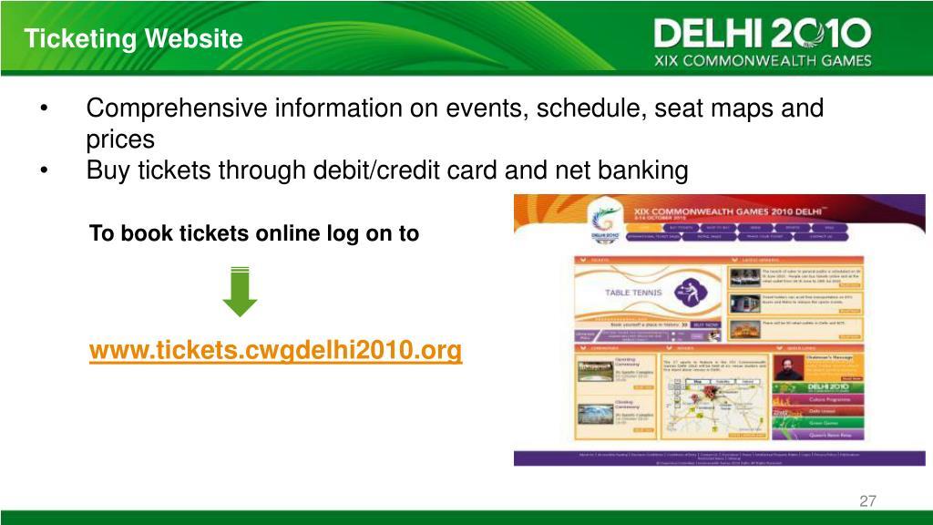 Ticketing Website
