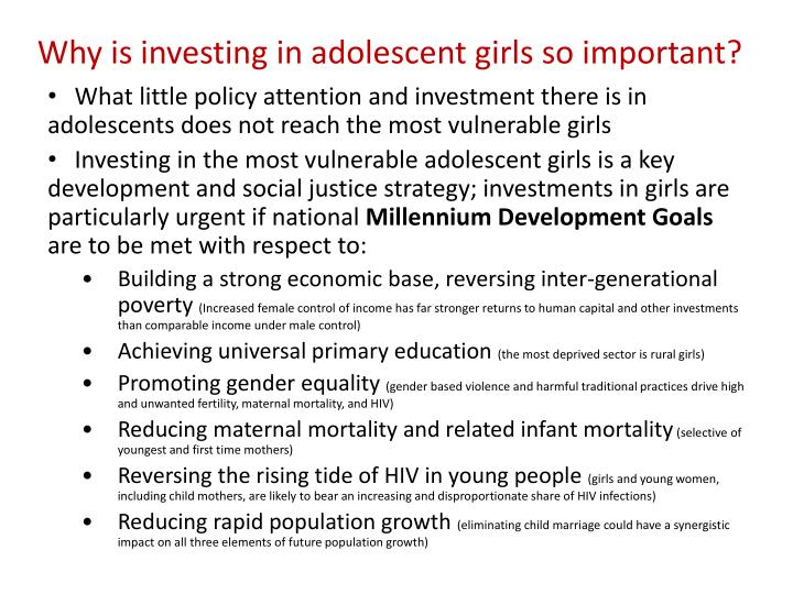 Why is investing in adolescent girls so important l.jpg