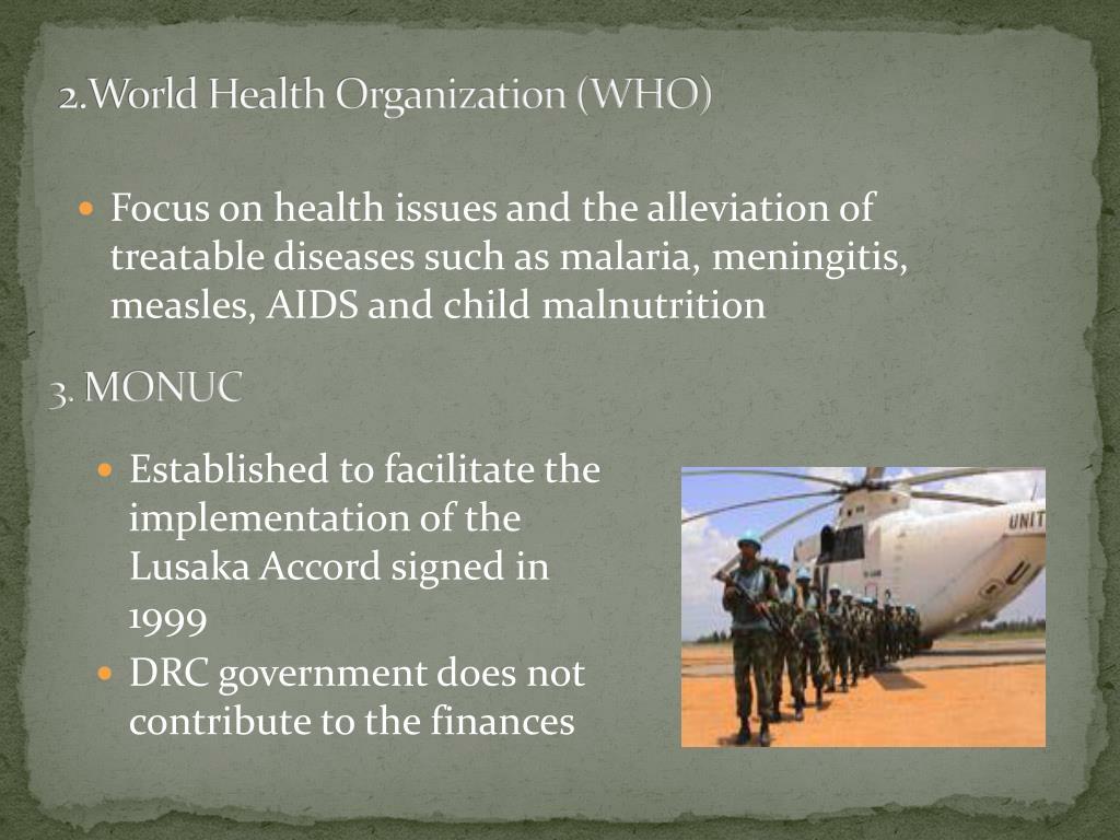 2.World Health Organization (WHO)