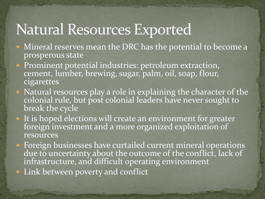Mineral reserves mean the DRC has the potential to become a prosperous state