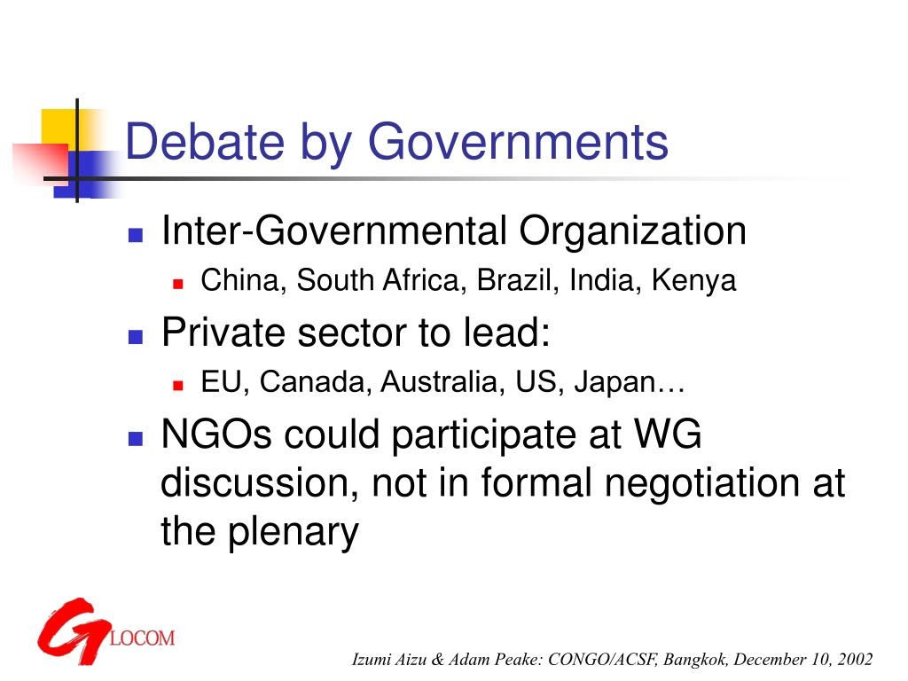Debate by Governments