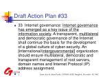 draft action plan 33