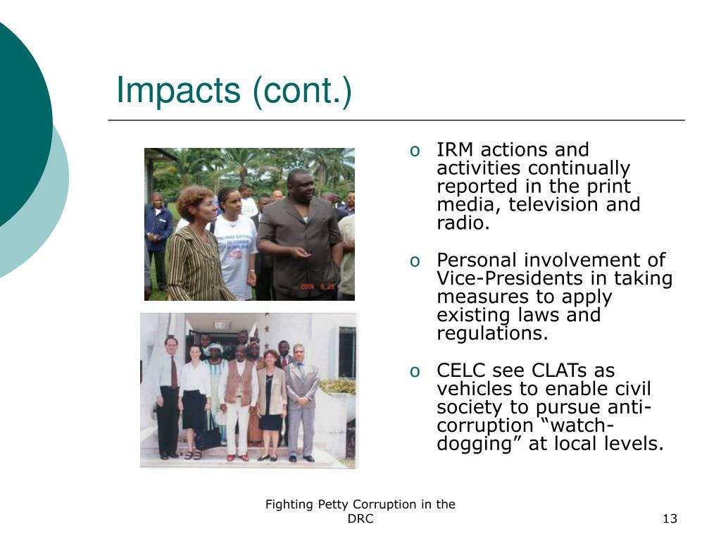 Impacts (cont.)