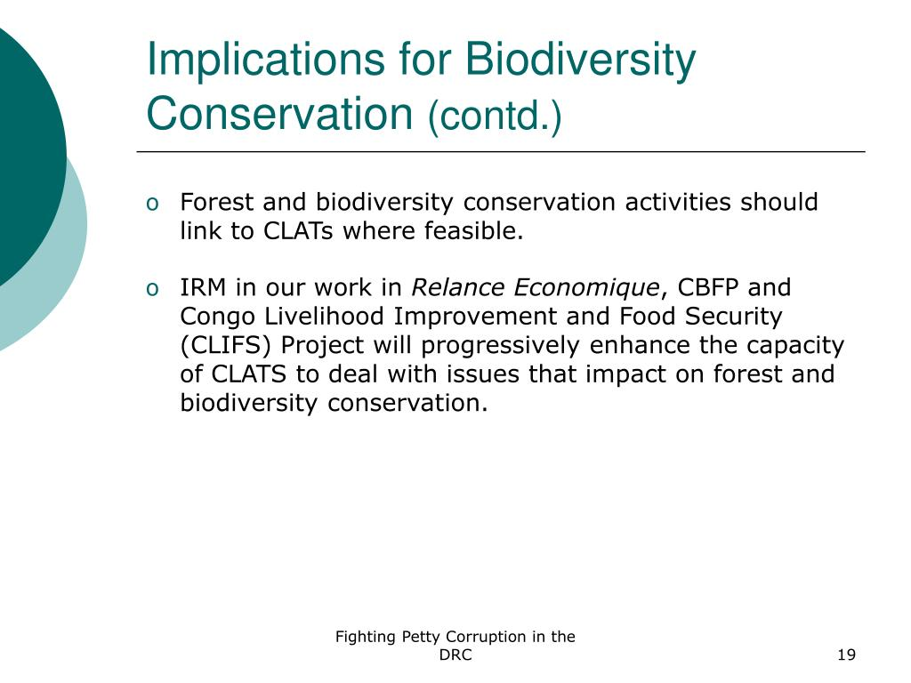 Implications for Biodiversity Conservation