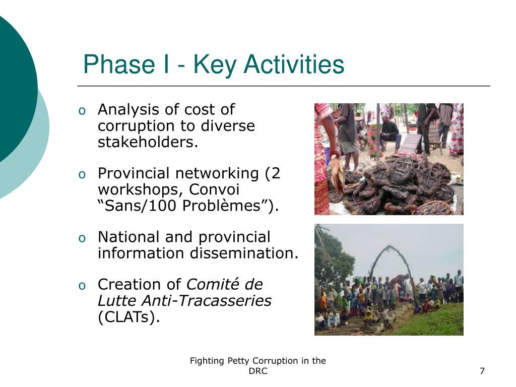 Phase I - Key Activities