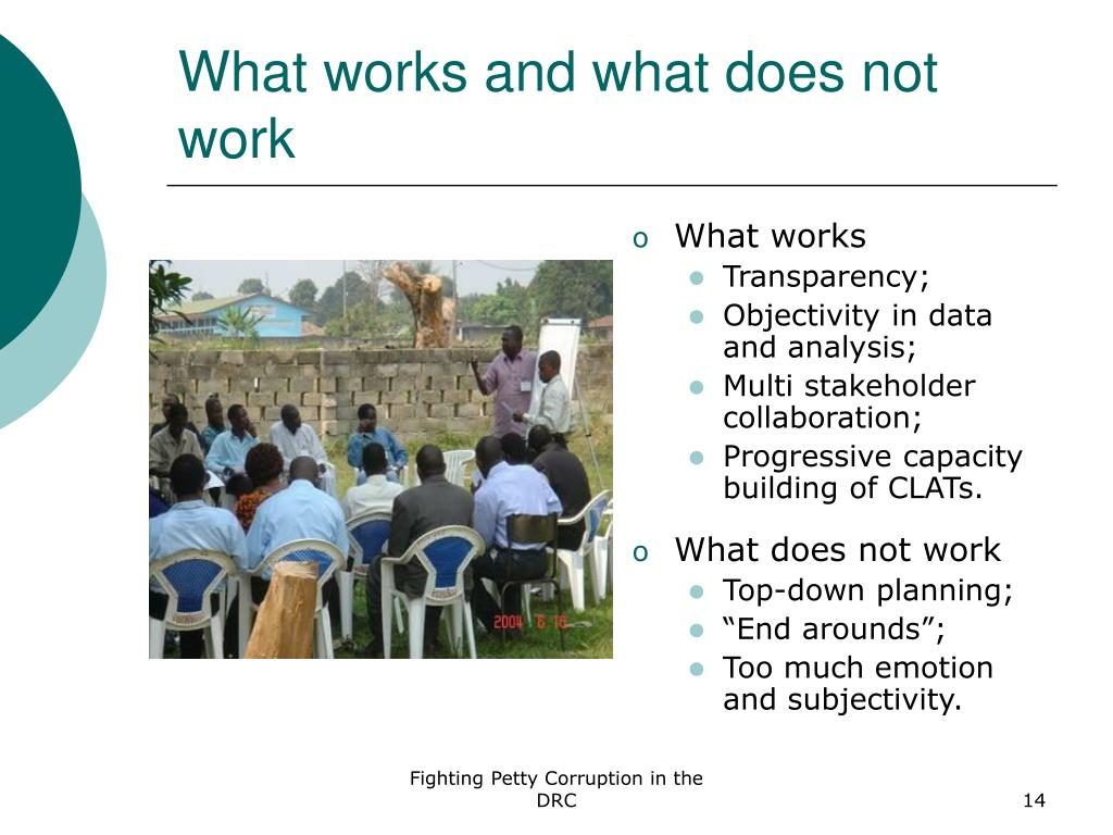 What works and what does not work